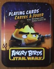 Angry Birds Star Wars Playing Cards--Yellow Bird on Tin--Free Shipping