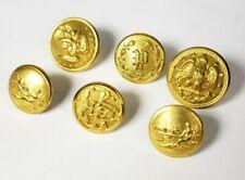 Lot of (6) Misc. Vintage Smaller Brass Uniform Buttons - B10