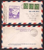 Canal Zone, 1929 F.A.M. cover first official air mail to Chile  -BO20