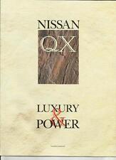 INTERESTING NISSAN QX 'BROCHURE' INCLUDING RICHARD NOBLE ROAD TEST  MID 90's