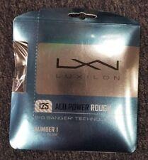 Luxilon ALU Power Rough 16L Gauge 1.25mm Tennis String Silver