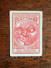 BRT Rare Antique Melbourne Playing Swap card Insectibane Rocke Tompsitt & Co.