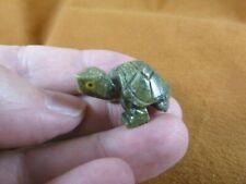 (Y-Tur-La-62) baby Turtle tortoise green Figurine carving gemstone love turtles