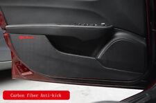 4*For Alfa Romeo Giulia 2017 Carbon Fiber Interior Protection Door Anti-kick pad