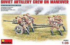 Mini Art 1/35 Soviet Artillery Crew (5) On Maneuver With Anti Tank Gun Zis-3