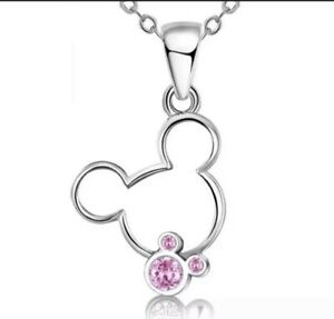Disney Mickey Mouse Pink Necklace Jewellery - Birthday Gift