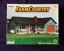 1/64 Ertl Farm Country Single Story Farmhouse playset blue set