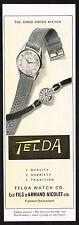 Fünfziger Vintage 1957 Armand Nicolet-Telda Watch Co. - Papier drucken AD