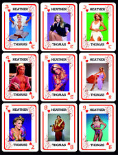 HEATHER THOMAS 1 BOX WITH 54 POKER PLAYING CARDS - ARGENTINA! WAGNER POWERS