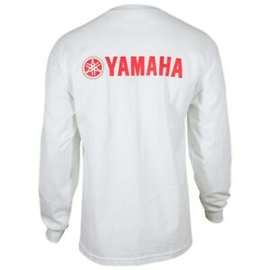 YAMAHA RACING LONG SLEEVE TEE WITH RED LOGO