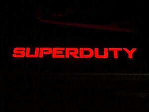 1999-2016 Ford Superduty Black Billet Door Sill Plates w/ Red Illuminated Lights