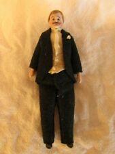 Antique Bisque Shoulder-head Dollhouse Doll Father Germany Original