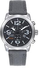 Citizen Eco-Drive Men's Chronograph Date Calendar Nylon 42mm Watch AT2100-09E