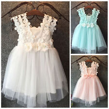 Flower Girl Kid Toddler Baby Princess Party Pageant Wedding Tulle Tutu Dress k66