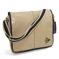 Dunlop Flapover Shoulder Messenger Courier Bag #57 Webbing Strap Ecru