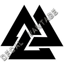 Valknut Style A Vinyl Sticker Decal Norse Viking Odin - Choose Size & Color