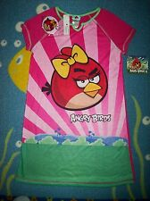 Angry Birds Nightgown Nightshirt Sleepwear Girls Sz 10-12 Large  Free Gift NWT