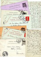 ! 1888/1912  FRANCE - 9 x FRENCH POSTAL STATIONERY CARDS TO AALBORG DENMARK