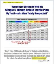 5 Minutes Article Traffic Plan Video Tutorials on CD