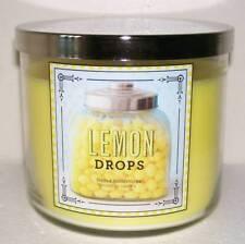 BATH & BODY WORKS LEMON DROPS 14.5OZ JAR CANDLE DELICIOUS LEMON CANDY!