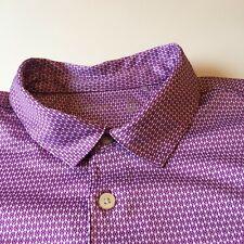 mens walter hagen 11 major Burgundy Cool Pattern Ex polo golf short sleeve shirt