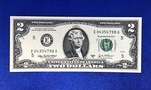 Billet 2 Dollars Jefferson USA, États Unis D'Amérique.  NEUF, UNC. Séries 2003 A