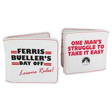 Ferris Bueller Wallet. White Coin Purse Retro 80s Movie Film Broderick Sheen
