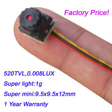 1g Weight Micro HD Mini Video Camera for home, car, store,FPV use 520TVL