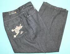 ICEBERG Ice History VTG Tom &Jerry 2000 Mens Jeans 42x30(36Mea) Black EUC #15059