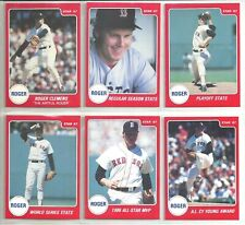 Honkbal 200 Made Verzamelingen Roger Clemens 1991 Star Company Red Sox Platinum Series Promo Card