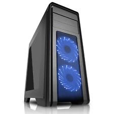 Game Max Falcon RGB Mid Tower PC Gaming Window 2 x RGB Front Fan Black USB 3.0