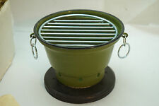 VINTAGE HIBACHI GRILL OLIVE GREEN NEW BOX JAPAN MINIATURE TABLE TOP INDIVIDUAL