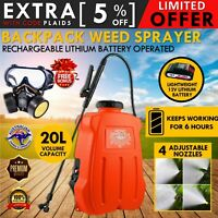 12V 20L Electric Weed Sprayer Rechargeable Backpack Farm Garden Pump Spray Yard