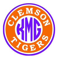 Clemson Tigers Monogram Decal for Yeti, Laptop, Car, Truck, tumbler