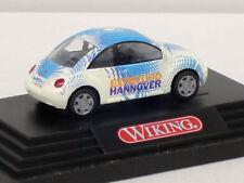 VW Beetle in weiß mit Dekor in Vitrine mit OVP, Expo 2000 Hannover, Wiking, 1:87