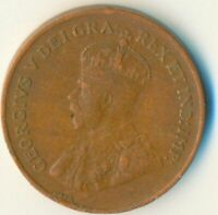 COIN / CANADA / 1 CENT 1927 / KING GEORGE V.  #WT6854