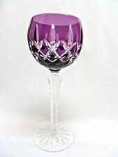 Ajka Crystal Hungary ARABELLA Amethyst Purple Cut to Clear Cased Wine Goblet #2