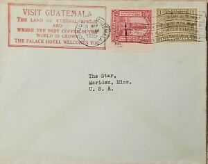 A) 1935, GUATEMALA, COVER SHIPPED TO UNITED STATES, SLOGAN CANCELATION THE BEST