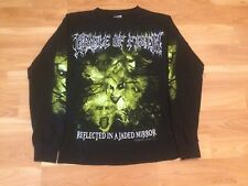 2003 CRADLE OF FILTH L/S T SHIRT MENS SMALL BLACK REFLECTED IN A JADED MIRROR