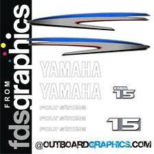 Yamaha 15hp 4 stroke outboard engine decals/sticker kit - others available