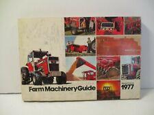 1977 MASSEY FERGUSON FARM MACHINERY GUIDE