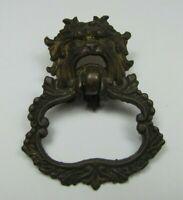 Antique 19c MONSTER BEAST Bronze Pull Ornate Figural Victorian Hardware Element