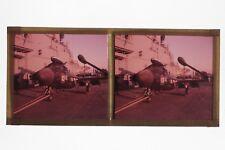 France Avion de chasse Stereo Plaque de Verre Positif Vintage