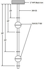 Liquid Level Magnetic Float Switch for Tanks - Stainless Steel