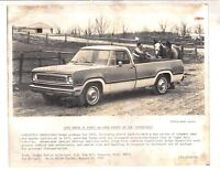 1972 Dodge pickup Press release original photo from Dealer files -extremely rare