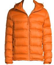 Saks Fifth Avenue Men's Hawaian Sun Duck DOWN Hood Coat Jacket Sz US L NEW
