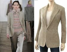 RALPH LAUREN COLLECTION Women's Cashmere Wool Herringbone Blazer 14 NEW