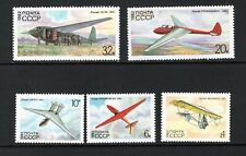 Russia 1982 GLIDERS TROOP CARRIER, RED STAR, STAKHANOVETS SC 5071-75 NH