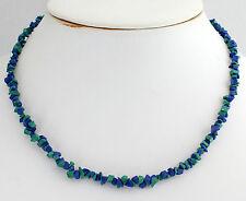 Malachit Azurit Kette Edelsteinkette Splitterkette ca.45 cm(Modeschmuck) Collier