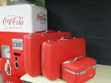 "Vintage American Tourister RED HARDSHELL Luggage Suitcases 26"" & 23"" Cosmetic"